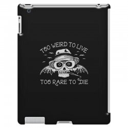 hunter s thompson t shirt fear and loathing in las vegas t shirt too w iPad 3 and 4 Case | Artistshot
