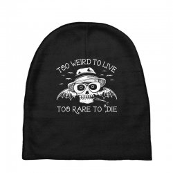 hunter s thompson t shirt fear and loathing in las vegas t shirt too w Baby Beanies | Artistshot