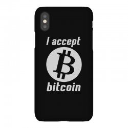 i accept bitcoin online game money crypto currency funny iPhoneX Case | Artistshot