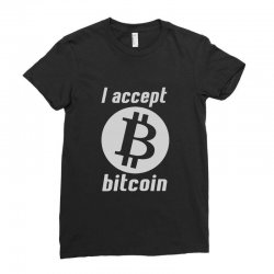 i accept bitcoin online game money crypto currency funny Ladies Fitted T-Shirt | Artistshot