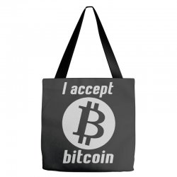 i accept bitcoin online game money crypto currency funny Tote Bags | Artistshot