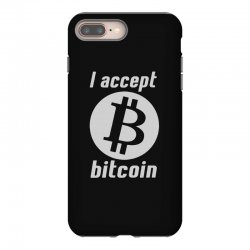 i accept bitcoin online game money crypto currency funny iPhone 8 Plus Case | Artistshot