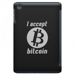 i accept bitcoin online game money crypto currency funny iPad Mini Case | Artistshot