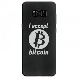 i accept bitcoin online game money crypto currency funny Samsung Galaxy S8 Case | Artistshot