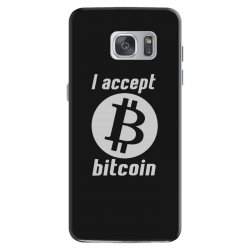 i accept bitcoin online game money crypto currency funny Samsung Galaxy S7 Case | Artistshot