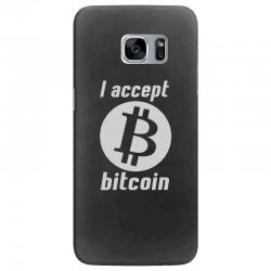 i accept bitcoin online game money crypto currency funny Samsung Galaxy S7 Edge Case | Artistshot
