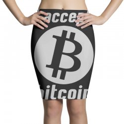 i accept bitcoin online game money crypto currency funny Pencil Skirts | Artistshot