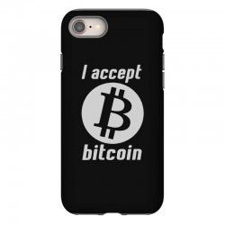 i accept bitcoin online game money crypto currency funny iPhone 8 Case | Artistshot