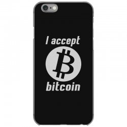 i accept bitcoin online game money crypto currency funny iPhone 6/6s Case | Artistshot