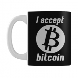 i accept bitcoin online game money crypto currency funny Mug | Artistshot