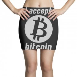 i accept bitcoin online game money crypto currency funny Mini Skirts | Artistshot