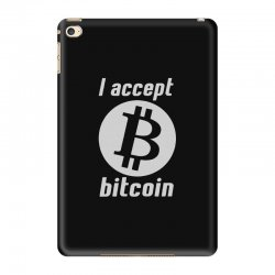 i accept bitcoin online game money crypto currency funny iPad Mini 4 Case | Artistshot