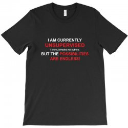 i am currently unsupervised adult humor novelty graphic sarcasm funny T-Shirt | Artistshot