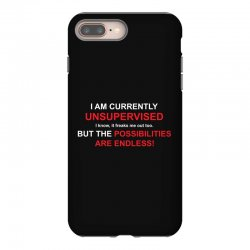 i am currently unsupervised adult humor novelty graphic sarcasm funny iPhone 8 Plus Case | Artistshot