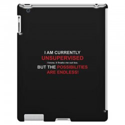 i am currently unsupervised adult humor novelty graphic sarcasm funny iPad 3 and 4 Case | Artistshot