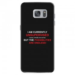 i am currently unsupervised adult humor novelty graphic sarcasm funny Samsung Galaxy S7 Case | Artistshot