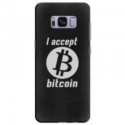 i accept bitcoin online game money crypto currency funny Samsung Galaxy S8 Plus Case | Artistshot