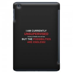 i am currently unsupervised adult humor novelty graphic sarcasm funny iPad Mini Case | Artistshot