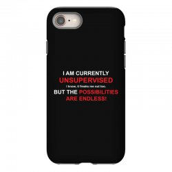 i am currently unsupervised adult humor novelty graphic sarcasm funny iPhone 8 Case | Artistshot