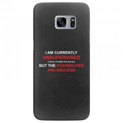 i am currently unsupervised adult humor novelty graphic sarcasm funny Samsung Galaxy S7 Edge Case | Artistshot