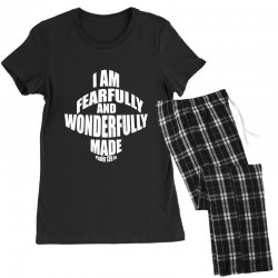 i am fearfully and wonderfully made christian Women's Pajamas Set | Artistshot