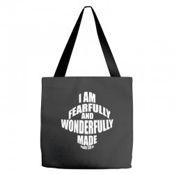 i am fearfully and wonderfully made christian Tote Bags | Artistshot