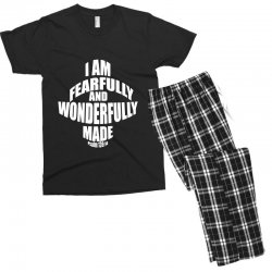 i am fearfully and wonderfully made christian Men's T-shirt Pajama Set | Artistshot