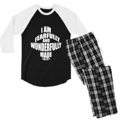 i am fearfully and wonderfully made christian Men's 3/4 Sleeve Pajama Set | Artistshot