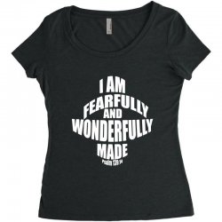 i am fearfully and wonderfully made christian Women's Triblend Scoop T-shirt | Artistshot