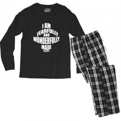 i am fearfully and wonderfully made christian Men's Long Sleeve Pajama Set | Artistshot
