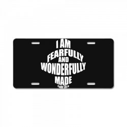i am fearfully and wonderfully made christian License Plate | Artistshot