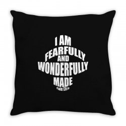 i am fearfully and wonderfully made christian Throw Pillow | Artistshot