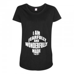 i am fearfully and wonderfully made christian Maternity Scoop Neck T-shirt | Artistshot