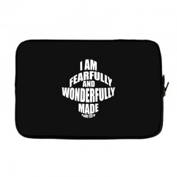 i am fearfully and wonderfully made christian Laptop sleeve | Artistshot