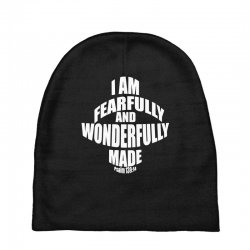 i am fearfully and wonderfully made christian Baby Beanies | Artistshot