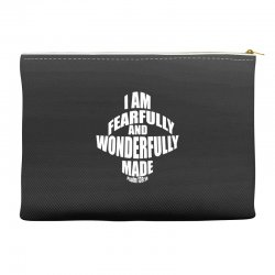 i am fearfully and wonderfully made christian Accessory Pouches | Artistshot