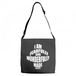i am fearfully and wonderfully made christian Adjustable Strap Totes | Artistshot
