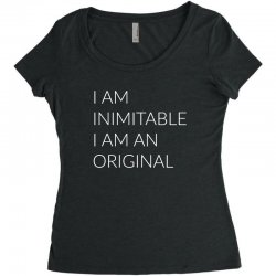i am Women's Triblend Scoop T-shirt | Artistshot