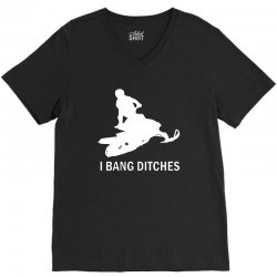 i bang ditches snowmobile V-Neck Tee | Artistshot