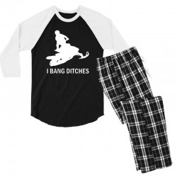 i bang ditches snowmobile Men's 3/4 Sleeve Pajama Set | Artistshot