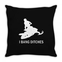 i bang ditches snowmobile Throw Pillow | Artistshot