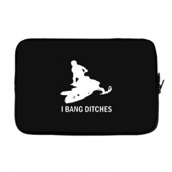 i bang ditches snowmobile Laptop sleeve | Artistshot