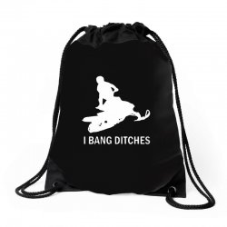 i bang ditches snowmobile Drawstring Bags | Artistshot