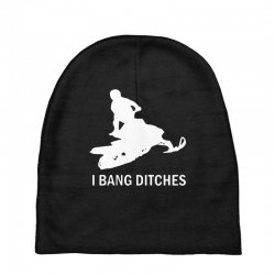 i bang ditches snowmobile Baby Beanies | Artistshot