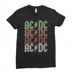 acdc leopard Ladies Fitted T-Shirt | Artistshot
