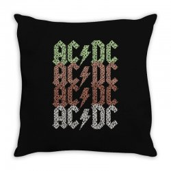 acdc leopard Throw Pillow | Artistshot