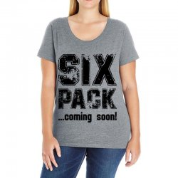 six pack coming soon Ladies Curvy T-Shirt | Artistshot