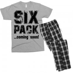 six pack coming soon Men's T-shirt Pajama Set | Artistshot