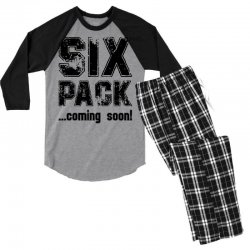 six pack coming soon Men's 3/4 Sleeve Pajama Set | Artistshot