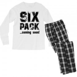 six pack coming soon Men's Long Sleeve Pajama Set | Artistshot